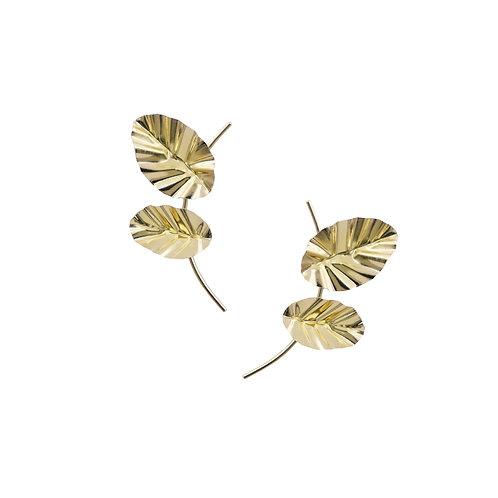 FOLD double-leaf earrings