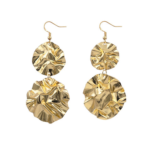 Large double disc FOLD earrings