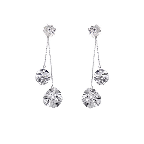 Detachable Silver 'Lily of The Valley' FOLD earrings