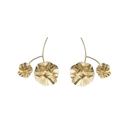 Large FOLD branch earrings