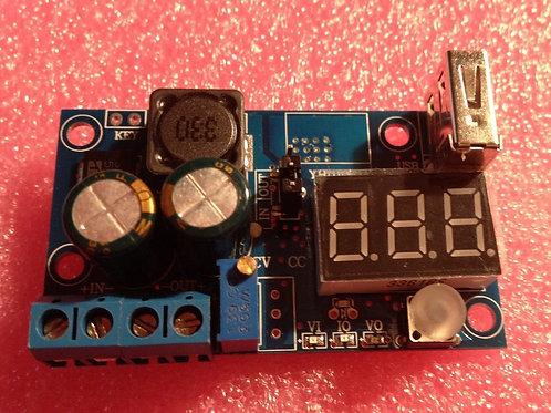 LM2596 Digit led 4-40V 5v 12v DC Converter Module Step Down Regulator w/ USB