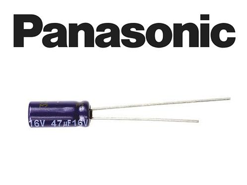 1 PCs Panasonic CAP 47uF 47MF 16V AL Electrolytic Capacitor