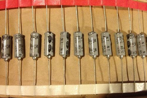 5 PCS RGA 100UF 100MF 16V CAP ALUM AXIAL 16X6mm (REPLACING FOR 12V 10V 6.3V )