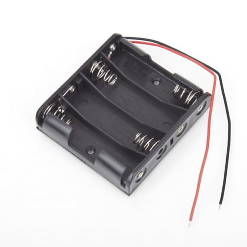 Battery Box Slot Holder Case for 4 Packs Standard AA 2A Batteries