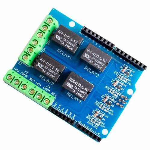 1 PCs 4 channel relay shield module control board expansion for arduino UNO R3