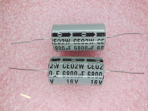 1 PCS MARCON 6800UF 16V CAP AL AXIAL ORIGINAL OEM (REPLACING FOR 10V 6.3V )
