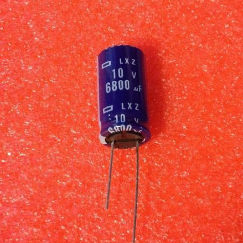 10 PCS NIPPON CAP ALUM 6800UF 6800MF 10V 20% RADIAL (replacing for 6.3V )