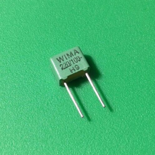 10 PCS WIMA Film Capacitor 220pF 0.22NF 2.5% 100V ORIGINAL OEM