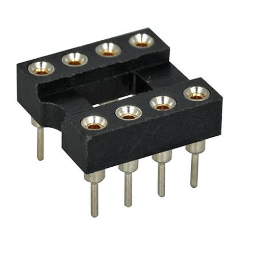 5 PCs IC Socket 8 PIN PCB Solder Type DIP ROUND HOLE Socket 8p 8-pin DIP-8 8DIP