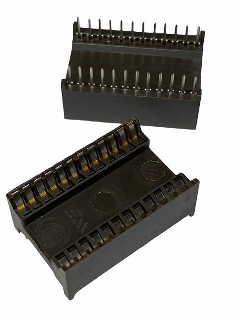 1 PCS 24 PIN IC DIP SOCKET FOR DIP-24 24DIP - ORIGINAL HIGH QUALITY MADE IN USA