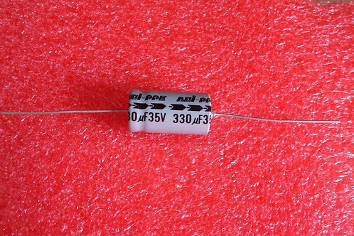 10PCS CAP ALUM ELEC 330UF 330MF 35V CAPACITOR AXIAL (REPLACING FOR 35V 16V 10V )