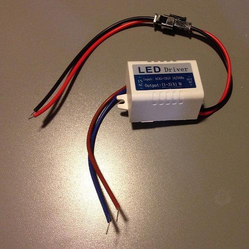 1pcs 85~277V 1 ~ 3 x 1W LED Driver Power Supply For LED Ceiling Lamp Light