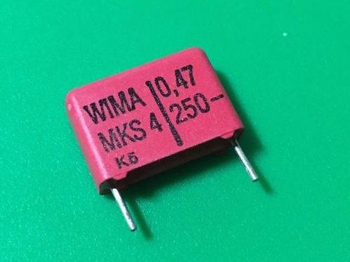 5 PCs CAPACITOR 0.47UF 470nf 250V POLY FILM (Replacing for 200V 160V ) ORIGINAL