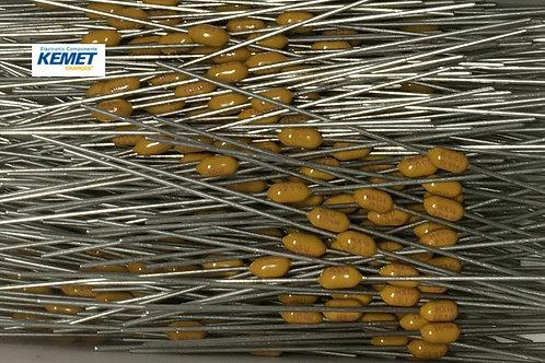 300 Kemet Multilayer Ceramic Capacitor MLCC Leaded 0.1uF 100nF 104M 50V Axial