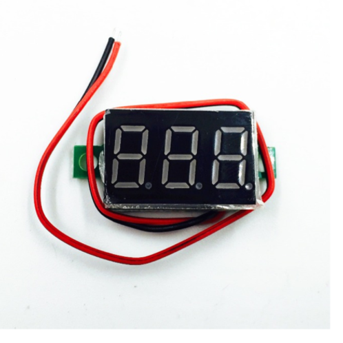 "1PCS TWO wire 0.36"" RED LED DC Digital Voltmeter Panel Meter DC 2.5V - 32V"
