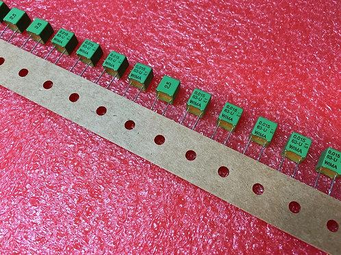 10 PCs Film Capacitor 0.015uF 15nF 153 63V 2.5% Cap