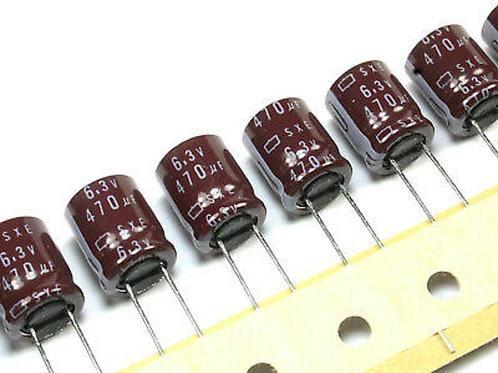 12 PCS NIPPON 470UF 470MF 6.3V RADIAL CAPACITOR 10X12.5mm CAP