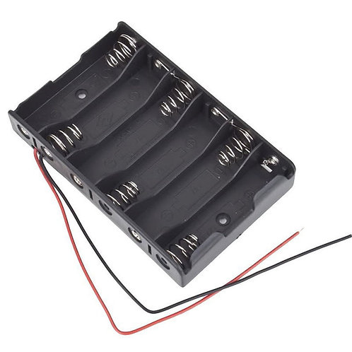 1 PCs - 6 x 1.5V AA 2A CELL Batteries Holder Storage Box 9V Case With Lead Wire