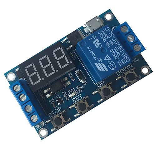 DC 6-30V Support Micro USB 5V LED Display Automation Cycle Delay Timer RELAY