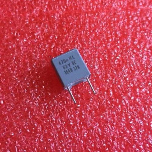 5 PCs CAPACITOR FILM 0.47UF 470nf 63V ORIGINAL OEM CAP