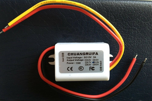 Waterproof DC Converter 12V Step Down to 5V 3A 15W Power Supply Module