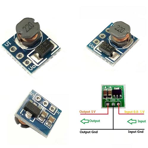 0.9-5V To 5V DC Step-Up Voltage Boost Converter Module 1.5V 1.8V 2.5V 3V 3.3V