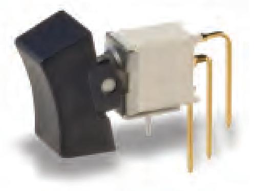 Rocker Switch SPDT 0.4VA (AC/DC) 20V Through Hole Right Angle Vertical CR ET05