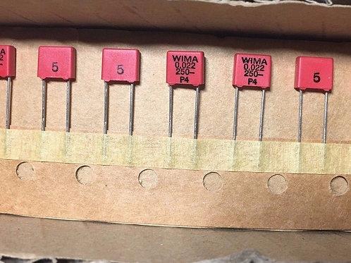 10PCs 0.022uf 22NF 223 250V FILM Capacitor (REPLACING FOR 63V ) ORIGINAL OEM CAP