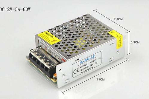 AC 100 - 265V To DC 12V 5A 60W Power Supply for LED strip light 3528 & 5050