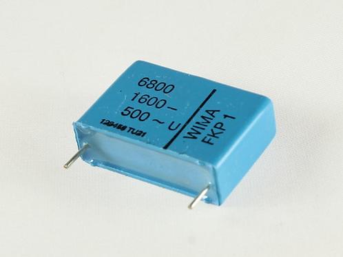 1 PCS WIMA Film Capacitor 6800pF 6.8NF 1600V DC 500V AC 3.5% ORIGINAL OEM CAP