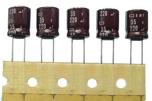 1 PCs NIPPON CAPACITOR ALUM 220UF 220MF 35V (replacing for 25V 16V 10V 6.3V )