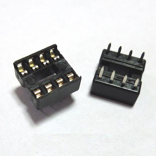 20 pcs 8 PIN IC Socket Adaptor PCB Solder Type DIP Socket 8p 8-pin 8 pin DIY New