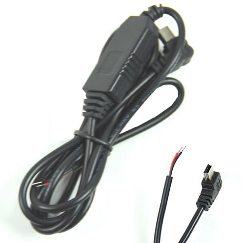 1Meter DC (8-24V) 12V 24V to 5V 3A Right Angled 90°Mini USB Converter Adapter