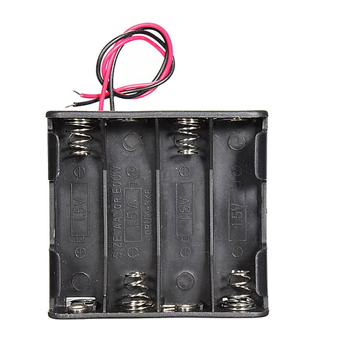 Battery 12V Clip 8 AA Holder Black Box Case with Wire Leads