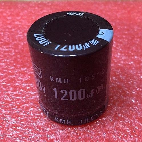 1 PCs CAPACITOR 1200UF 200V 1200MF SNAP-IN 105°C (replacing for 180V 160V 100V )