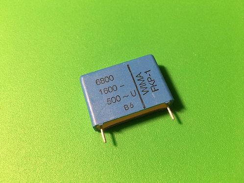 3 PCS WIMA Film Capacitor 6800pF 6.8NF 1600V DC 500V AC 3.5% ORIGINAL OEM CAP