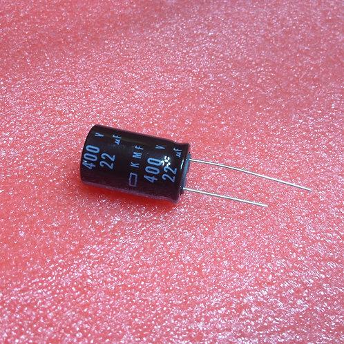 1 PCS NIPPON CAPACITOR 16X25 22uF 22MF 400V