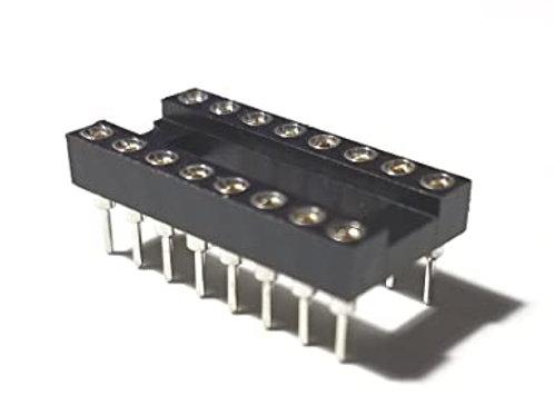 1 PCs 16 PIN IC SCOKET FOR DIP-16 DIP16 16-DIP ROUND HOLE