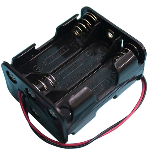 1 Pcs 6 AA 2A Battery 9V DIY Clip Holder Box Case with Wire Leads Black