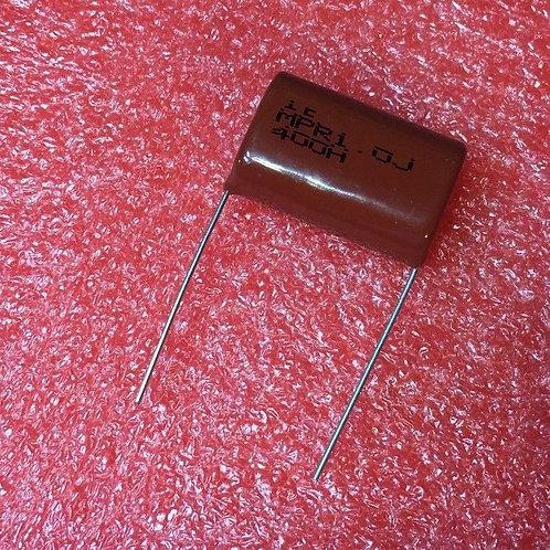 5 PCs Film Capacitor 400V 1uF 105 CAP (REPLACING FOR 250V 200V 160V ) Original