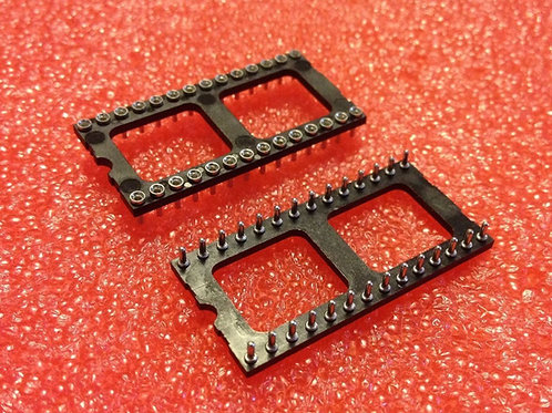 5 PCS 28 PIN DIP Machine Tooled Solder Tail LOW-PROFILE IC SOCKET ROUND HOLE
