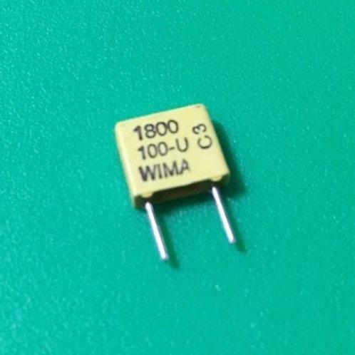 5 PCs 1800PF 1.8nF 330 100V DC 63V AC 5% Film Capacitor ORIGINAL OEM