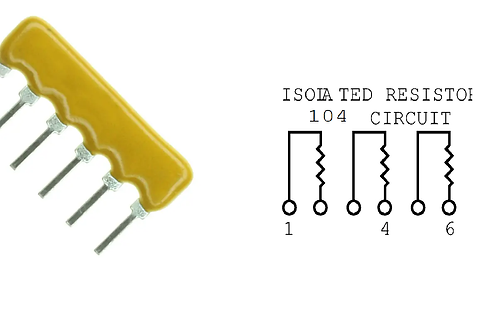 10 PCs Bourns 6 Pin RESISTOR NETWORK 100K OHM 2% 6 PIN SIP NET ARRAY OF 3 RES