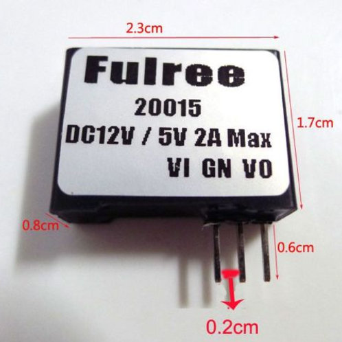 DC TO DC Buck Converter 7-22V to 5V Super small Power Supply Module