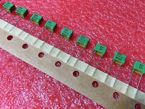 10 PCs Film Capacitor 390PF 0.39nF 391 100V 2.5% Cap