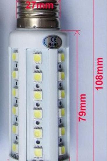LED 9W 12V Corn Light Bulb Lamp E27 E26 Screw Base Socket Cool White DC 12 Volts