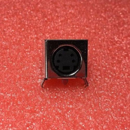 KMDT-SMT-4S-BSC Circular DIN Connector 4P R/A SMT F/SHLD HT CRIMP S/T GOLD PLT