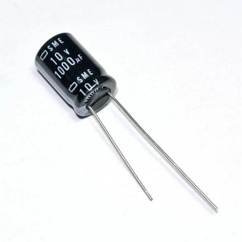 100 PCS NIPPON CAPACITOR 1000UF 1000MF 10V RADIAL CAP (replacing for 6.3V 2.5V )