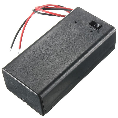 Standard 9V Battery Storage Holder Case Box with Cord Wire Lead ON/OFF SWITCH
