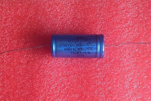1 PCS RCL Aluminum CAPACITOR 0.22UF 600V AC 1750V DC AXIAL CAP ORIGINAL